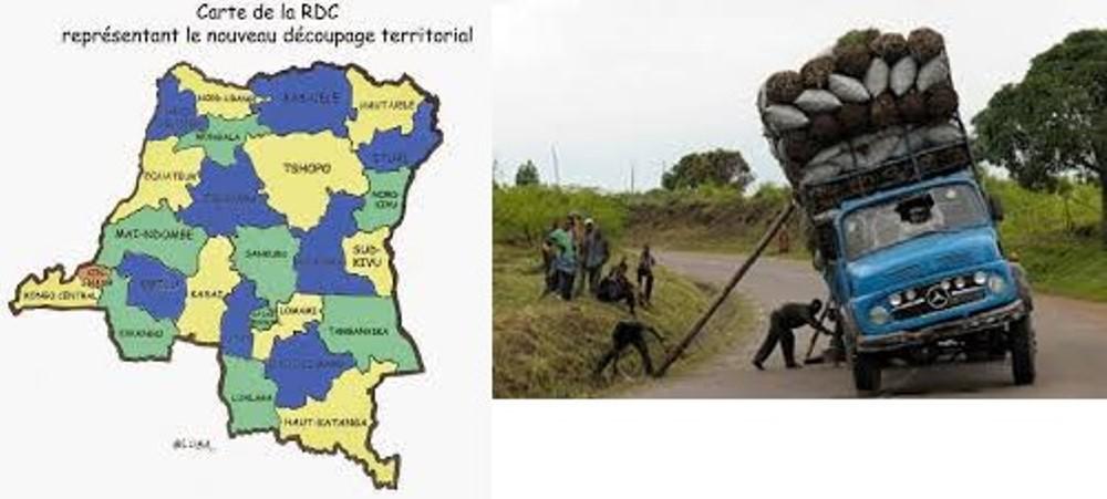 Camion Kimbambala & DRC map